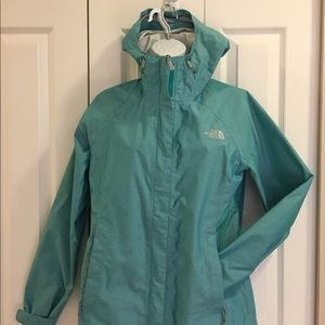 North Face shell in awesome turquoise colour